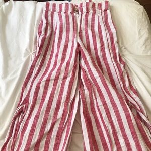 urban outfitters red & white striped pants XS